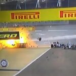 Acidente grave na F1: carro de Romain Grosjean bate e pega fogo