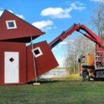 Origami? Conheça a incrível invenção de casas dobráveis