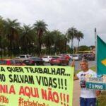 Manifestantes pedem novamente fim do lockdown no DF