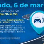 Drive-thrus vão fazer vacinação de idosos neste sábado (6)