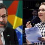 Chanceler Ernesto Araújo  acusa Kátia Abreu de ingerência a favor de 5g chinesa
