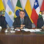 Bolsonaro discursou ao participar do Fórum para o Progresso e Desenvolvimento da América do Sul (Prosul)
