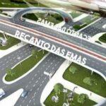 Viaduto do Recanto das Emas: início dos trabalhos de fundação