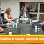 Ministro Tarcísio recebe comissão para tratar da duplicação da DF-128, sentido Planaltina Goiás