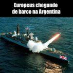 Europeus chegando de barco na Argentina