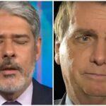Bolsonaro disse: 'Quem tiver Covid, procure os doutores da Globo, William Bonner ou Mirian Leitão'