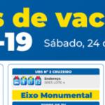 Reforço de vacinação vai continuar neste sábado (24)