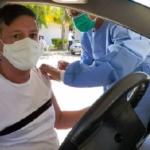 Em Planaltina, ex-distrital Berinaldo Pontes toma vacina contra Covid-19