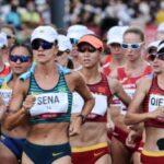 Érica Sena leva punição no final e perde medalha na marcha atlética