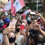 Sem participação do PT, presidenciáveis aparecem em protesto
