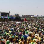 Presidente Bolsonaro discursa na Esplanada