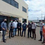 Secretaria de Governo e SLU fazem visita técnica ao projeto Tijolo Solidário